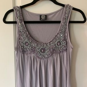 embellished tank top